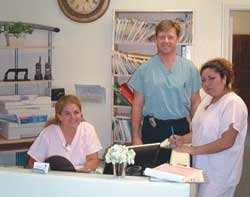 Here, in Dr. Pugsley's North County Office, is Manager Anylou, Pain Management Specialist Dr. Druet, and Medical Officer Assistant, Rosa